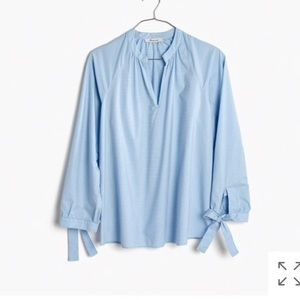 NWOT Madewell • Tie Sleeve Popover